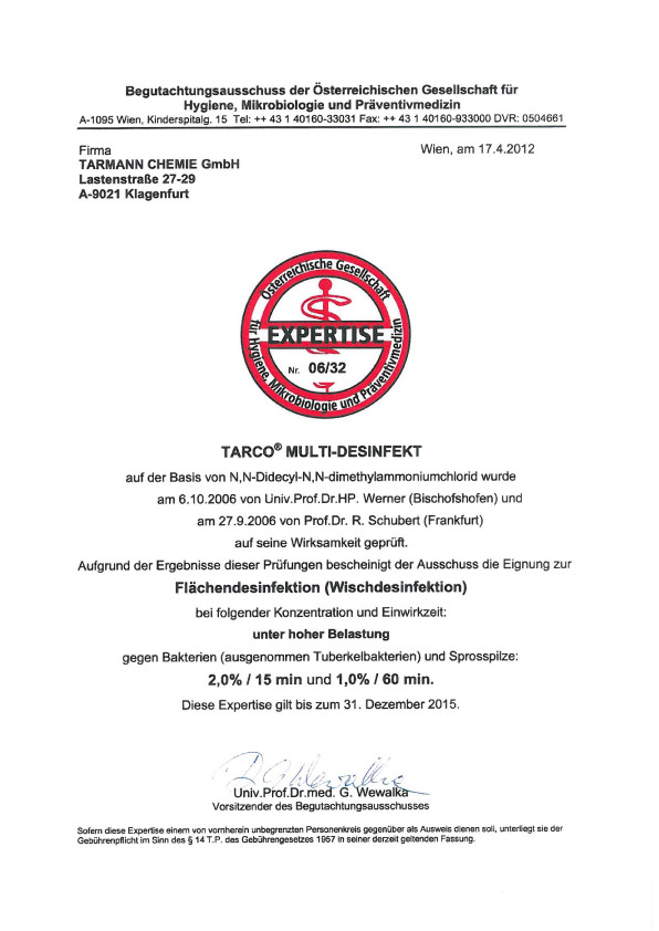 Certificate_Multi didsinfect